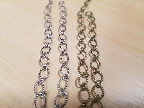 Chain -CH-28 - Oval Textured Link