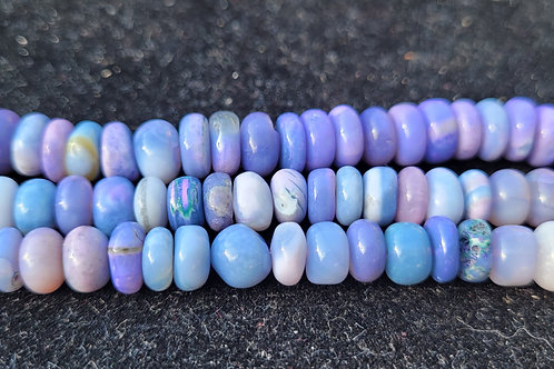 16.5x7 mm smooth Purple & Blue Opal Rondelle mix