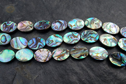Abalone Shell Oval Coin - 12x16 mm