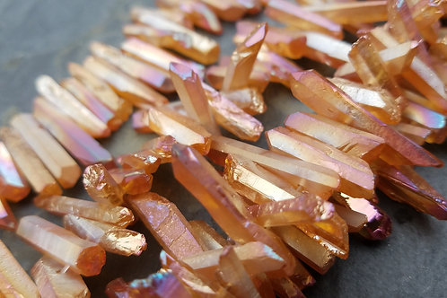 Wine Red Electroplated Quartz Points
