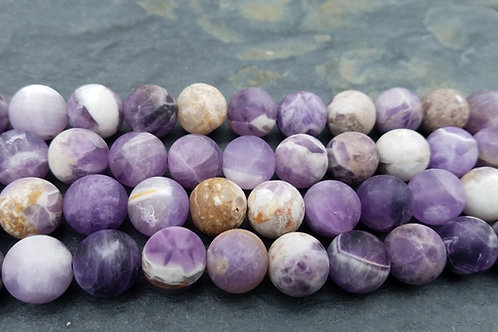 Matte Dog Tooth Amethyst - 14 mm