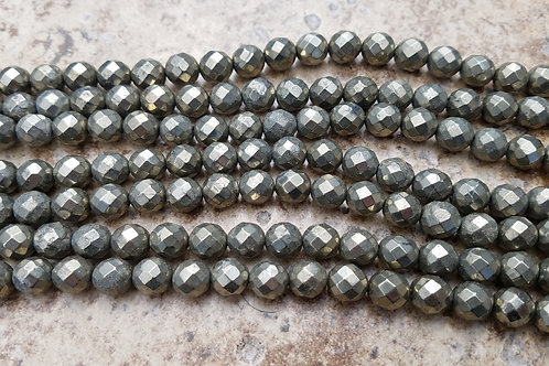 Pyrite - 8 mm Faceted