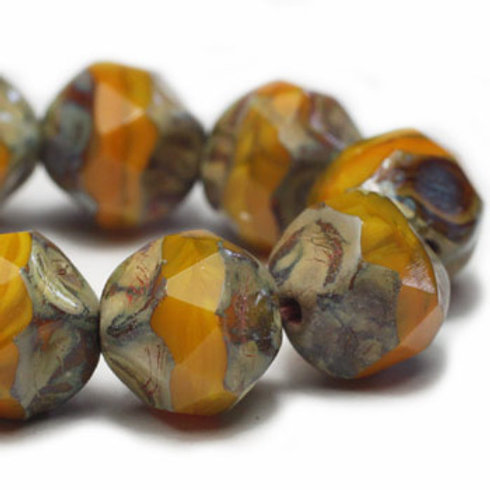 8 mm Baroque Beads in Yellow Gold w/ Picasso Finish