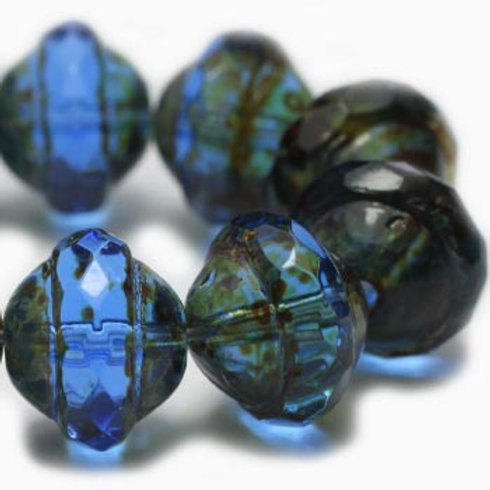 8x10mm Saturn Sapphire with Picasso Finish