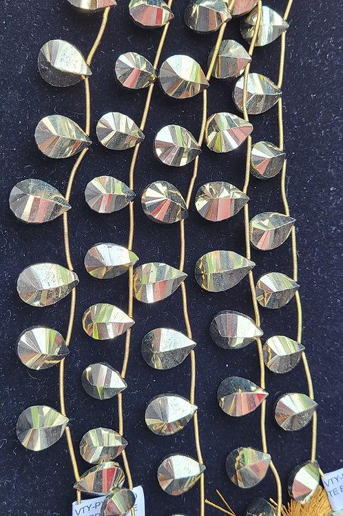 Faceted Pyrite Briolettes