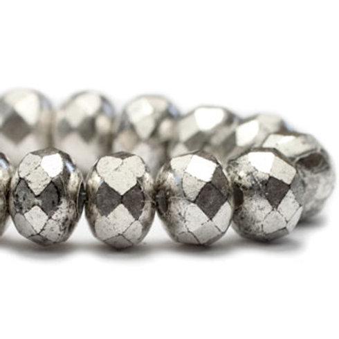 3X5 mm Rondelle - Antique Silver