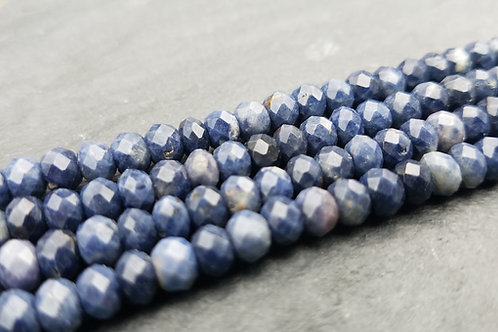 Blue Sapphire - 4X5 mm Faceted Roundelle