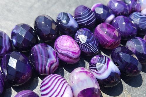 15X20 mm Purple Striped Agate Nugget