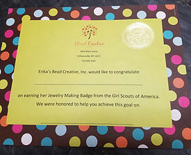 GIRL SCOUT JEWELRY BADGE CLASSES