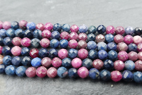 Ruby & Sapphire - 4 mm Faceted Round