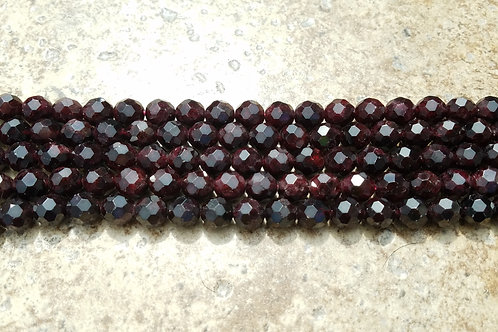 Faceted Natural Garnet - 10 mm