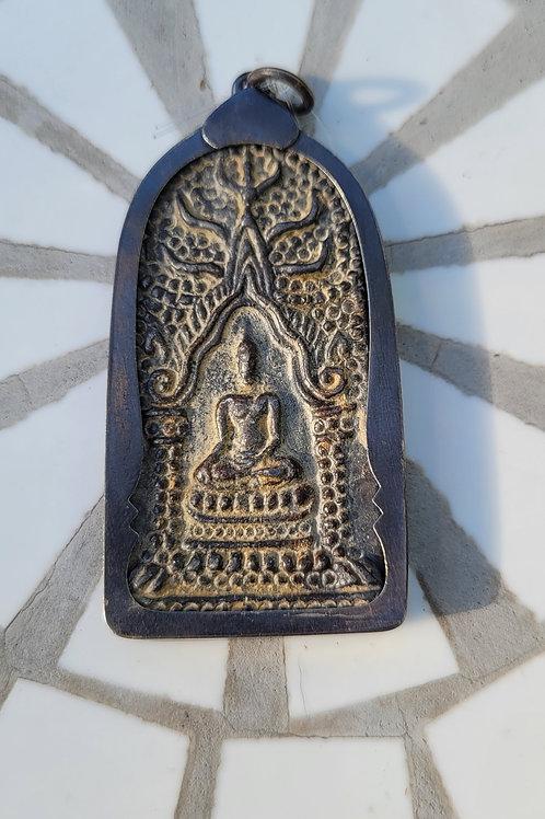 15.61x50 mm hand carved stone sitting buddha pendant
