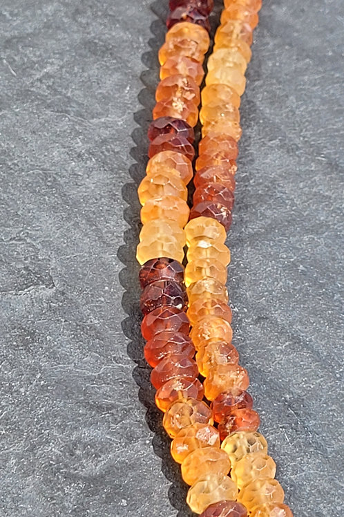 4x8 mm Faceted Hessonite Rondelles