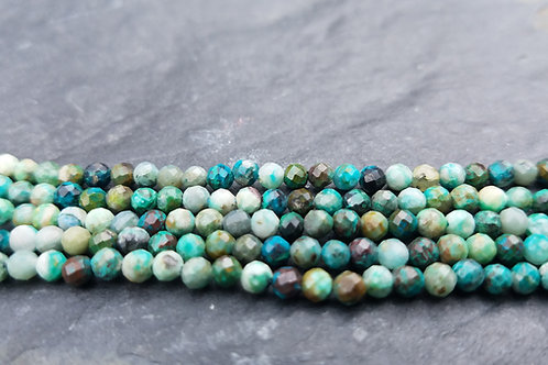 African Turquoise -3 mm Faceted Round