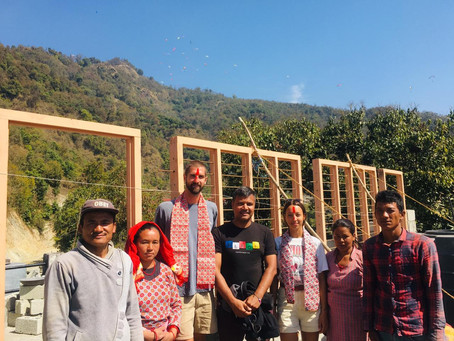 Build of two classrooms at Shree Prabhat Primary School
