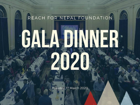 REACH for Nepal Foundation Fundraising Gala Dinner on 17 Mar 2020
