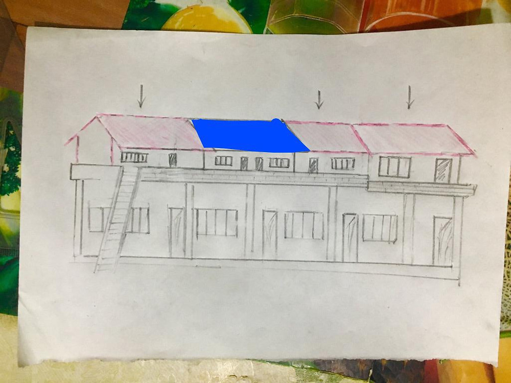 Proposed drawing of Shree Sudin Primary School, Lwang