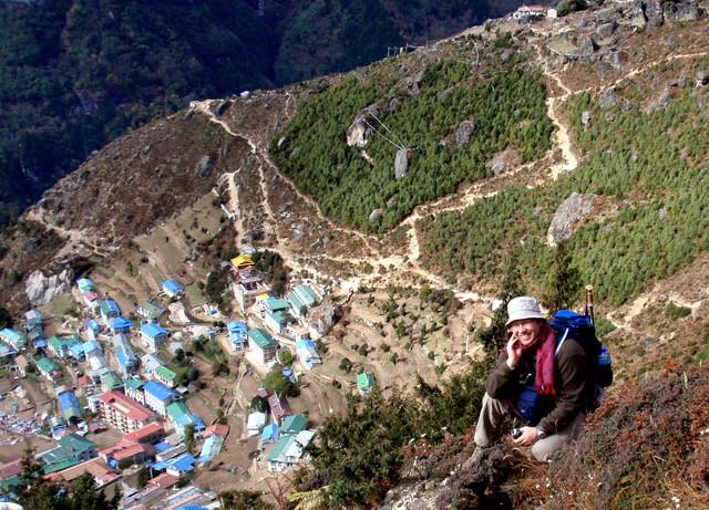 Craig Allen above Namche Bazzar, Everest Base Camp Trail Nepal
