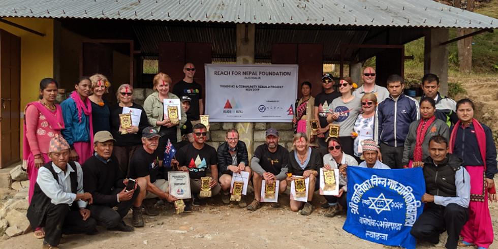 Nepal Community Rebuild Trip Information Night Canberra
