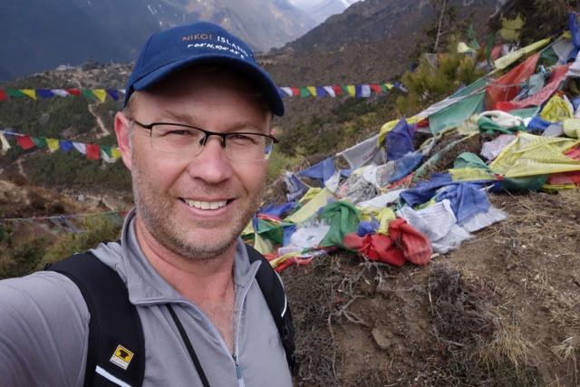 Craig Allen, ABC Newsreader & Journalist in the mountains of Nepal