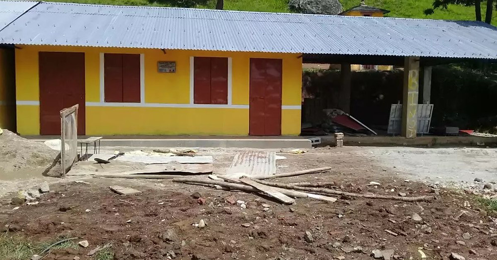 The construction site at Shree Kalika Secondary School, Banethok Syangja