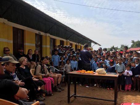 A farewell speech from a school-teacher warms everybody's heart