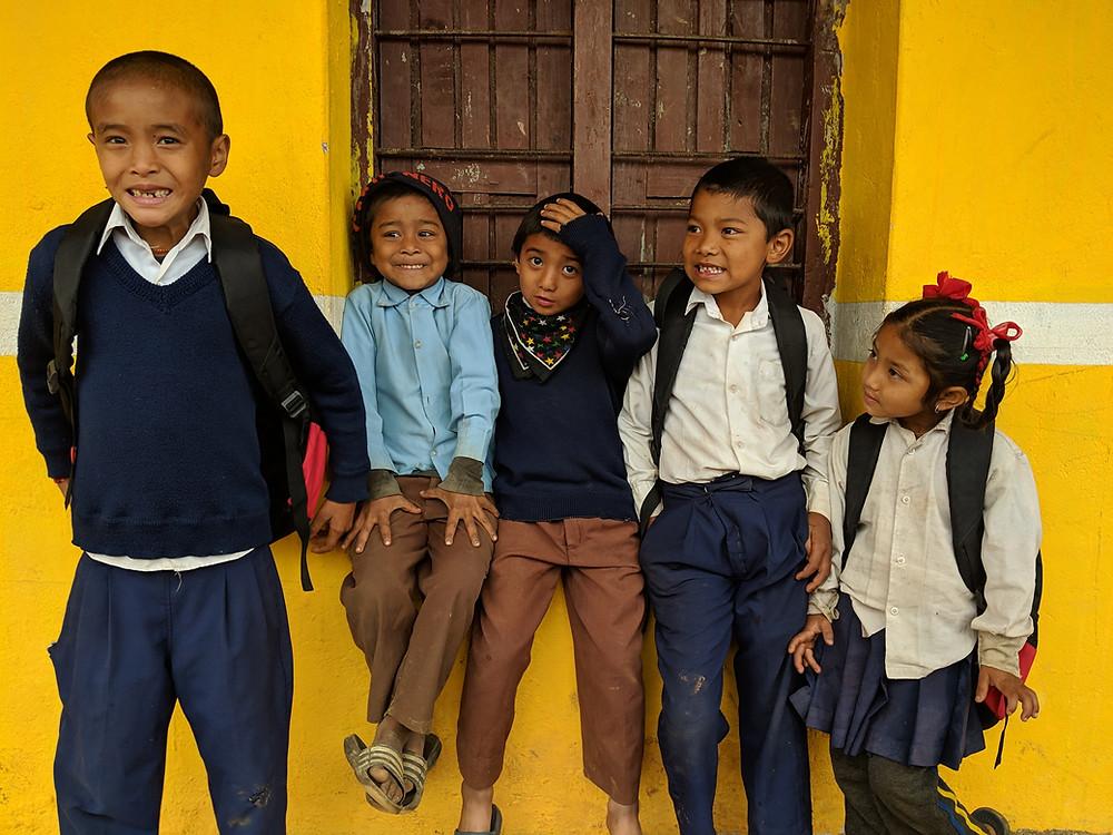 Students from Shree Kalika Secondary School