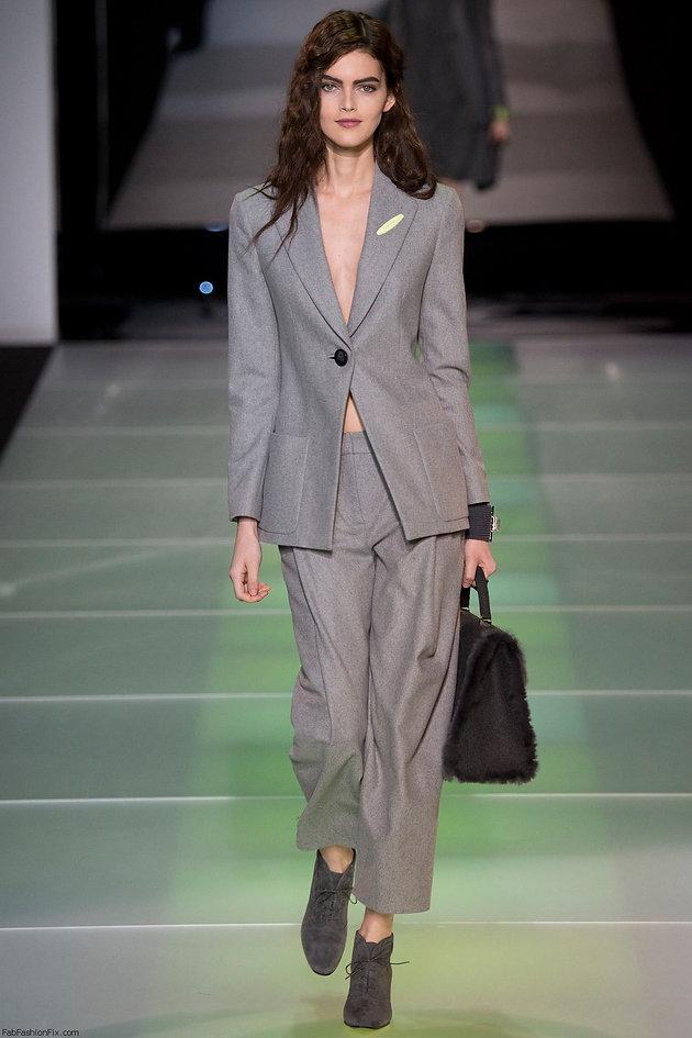 1614c816359 Giorgio Armani marcou presença na semana de moda de Milão