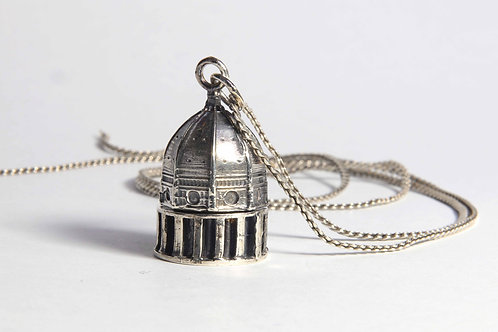 Dome Container in Sterling Silver small size