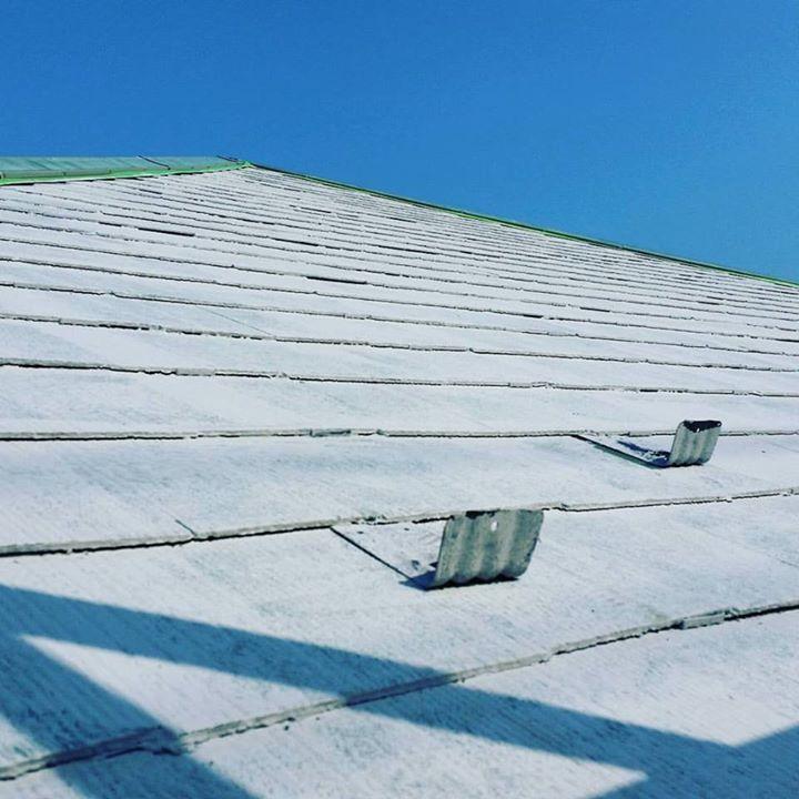 屋根の下塗り完了!