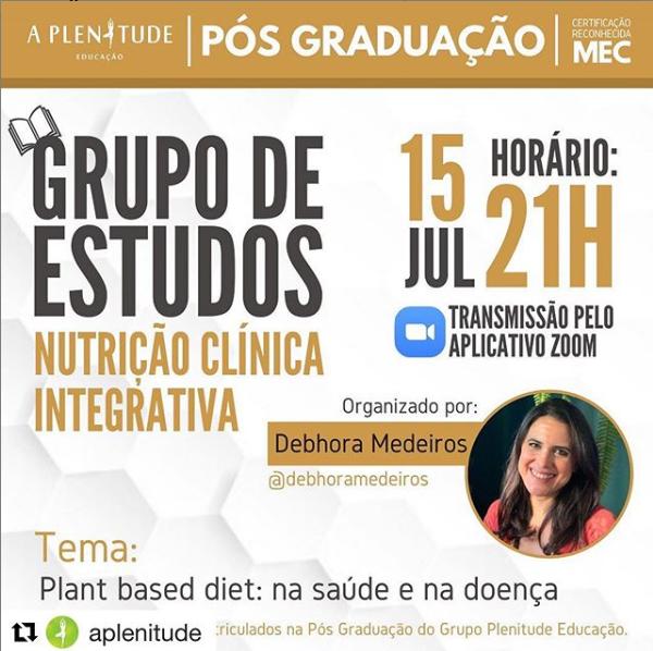 Grupo de estudos sobre Nutrição Clinica Integrativa