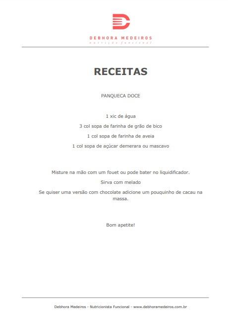 Receita - Panqueca Doce