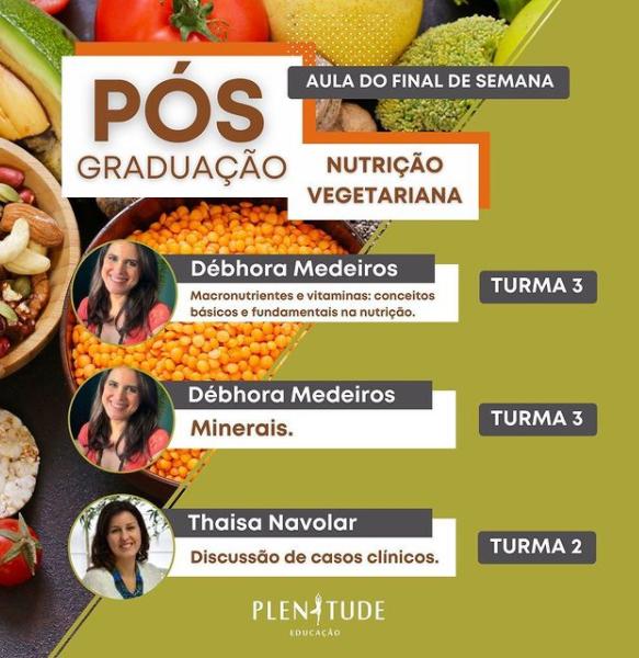 Aula de Pós Graduação em Nutrição Vegana