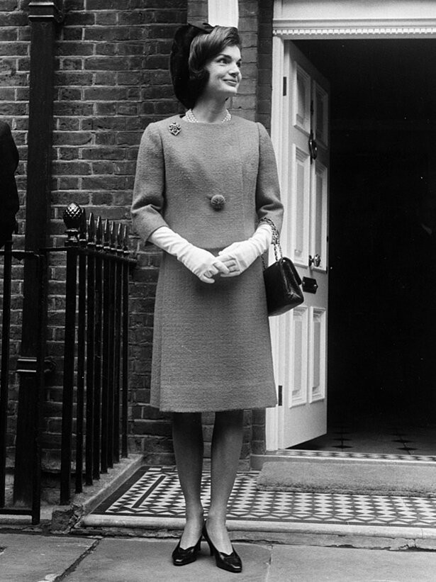 Jackie Kennedy in White Gloves | InStyle