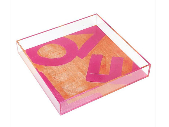 Love Lucite Tray