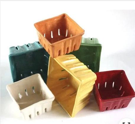 Small  Ceramic Berry Baskets