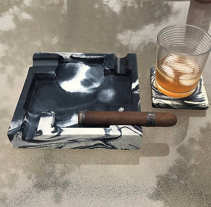 Large Concrete Cigar Ashtray