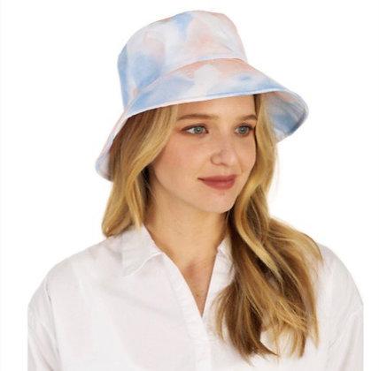 WATER-COLOR TIE-DYE BUCKET HAT