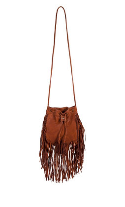 Boho Chic Leather/ Fringe