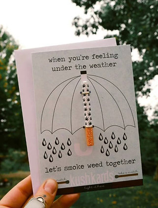 UNDER THE WEATHER ONE HITTER GREETING CARD