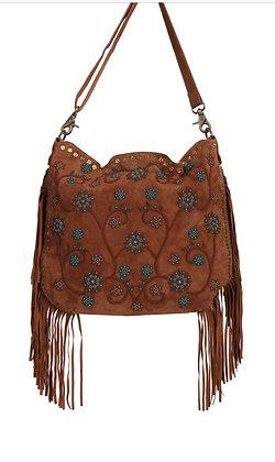 Boho Chic Suede - Turquoise Fringe Bag