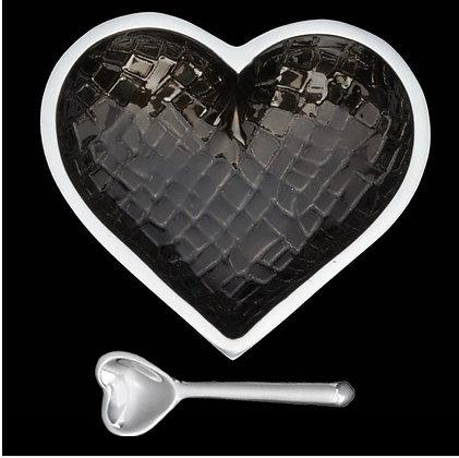 Happy Heart Dish With Spoon