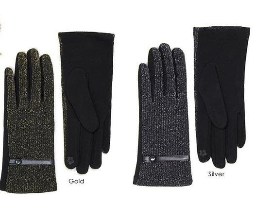 Lurex Gloves /Tech Finger