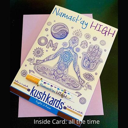Namast'ay OneHitter Greeting Card