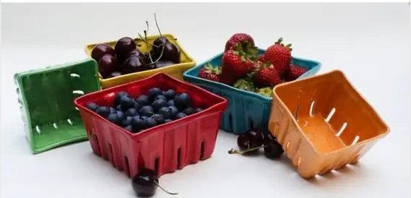 Large Ceramic Berry Baskets