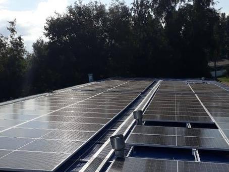 Ingeniería Agrícola instala primeros paneles solares del campus Chillán de la UdeC