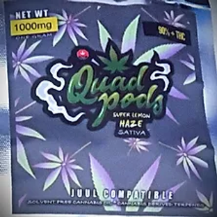 Quad Pod Lemon Haze Sativia (1000 Mg) 90% THC
