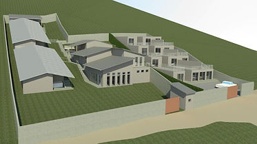 Rendering of the Freedom Village master plan in Haiti