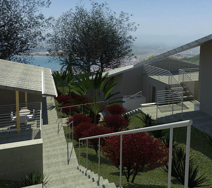 Rendering of The Freedom Village architecture design