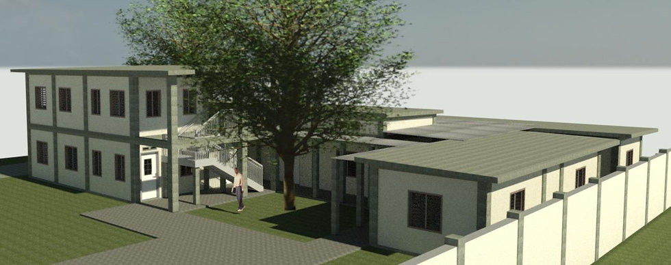Architectural rendering of the Haiti ARISE Birthing Centre